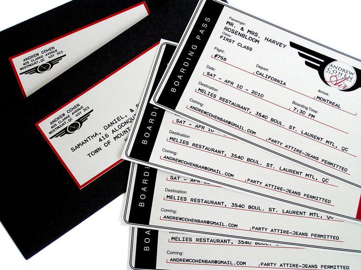 Airline Ticket Invitation www.cameleon-design.ca
