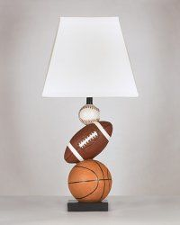Baseball Football and Basketball Nyx Lamp - a cute addition to your little champ's space.