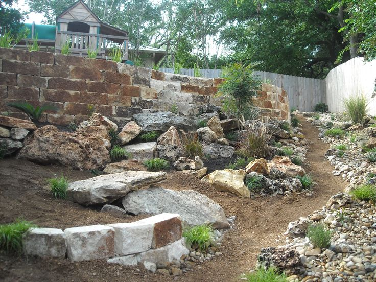 Rock Landscaping: Using Creek Rock Landscaping on texas rock home designs, texas landscape pool design ideas, texas rock garden landscape, texas rock patio designs, texas native plant garden designs,