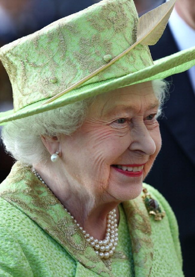 HRH Queen Elizabeth II attends The Royal Marines 350th Anniversary Beating Retreat at The Royal Horseguards, 04.06.2014 in London, England.