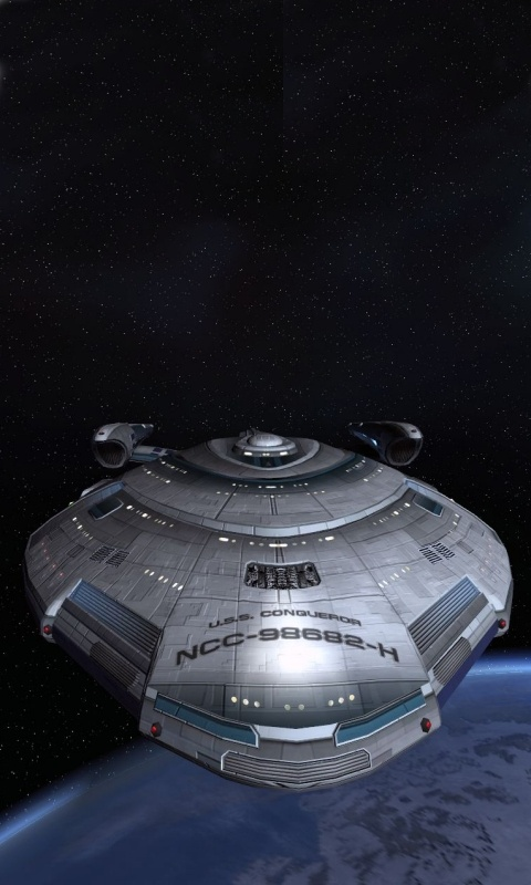 """I know, conqueror sounds a bit mean for Starfleet but this is a """"Terran Empire"""" ship from the Mirror Universe"""