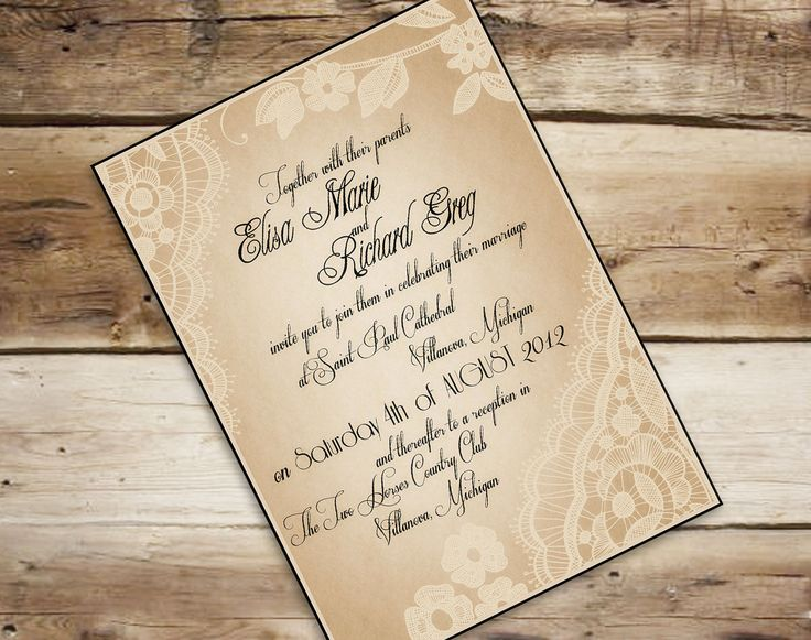 62 best top wedding invitations images on Pinterest Wedding - free bridal shower invitation templates for word