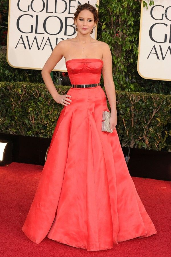 Jennifer Lawrence in Christian Dior Haute Couture at the 2013 Golden Globes