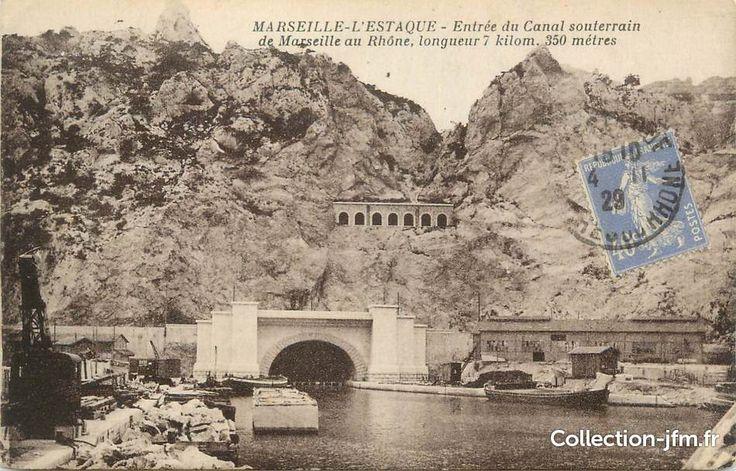 L'Estaque, Entrée du canal souterrain de Marseille au Rhône