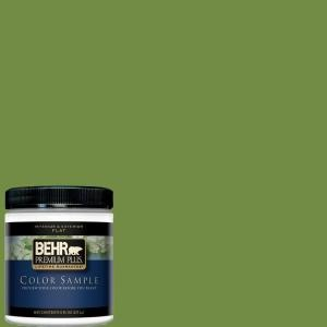 BEHR Premium Plus 8 Oz. #420D 6 Thyme Green Interior/Exterior Paint Sample