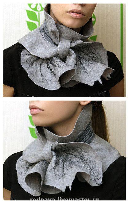 Grey felt scarf