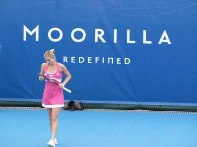 Alona Bondarenko, winner of the 2010 Moorilla Hobart International.