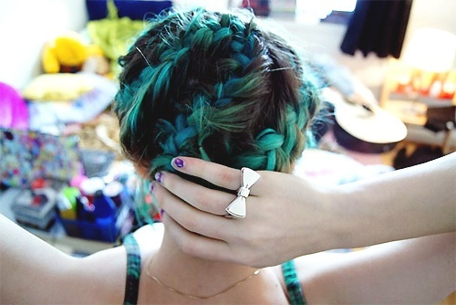 (originally seen by @Sunnyvzz866 )Hair Ideas, Aquabrown Braids, Blue Braids, Bluegreen Braids, Amazing Hair, Colours Hair, Blue Hair, Green Hair, Hair Chalk