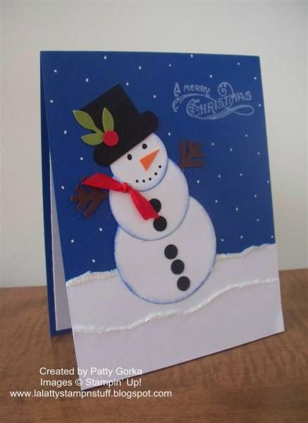 Snowman Punch Art by LaLatty - Cards and Paper Crafts at Splitcoaststampers