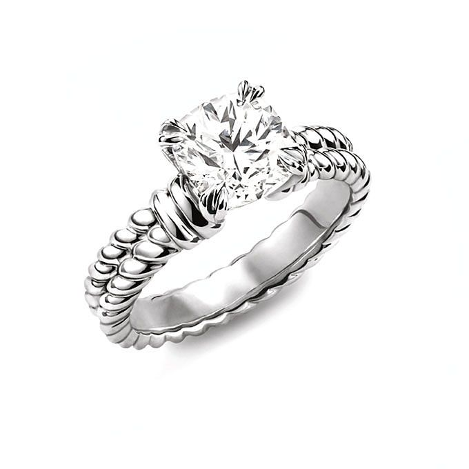 David Yurman Engagement Rings | Brides.com AHHHH THIS IS IT!!! LOVE THIS SET....WITH MY DIAMONDS IN IT OFCOUSE