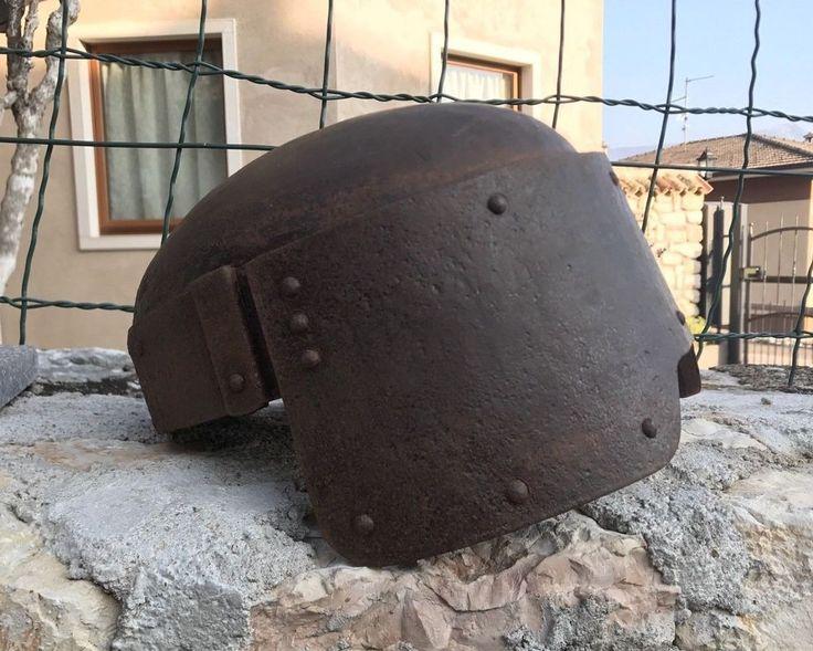RARO ELMO italiano tipo FARINA ALTO WW1 ARDITI COMPAGNIA TAGLIAFILI SCAVO  1gm