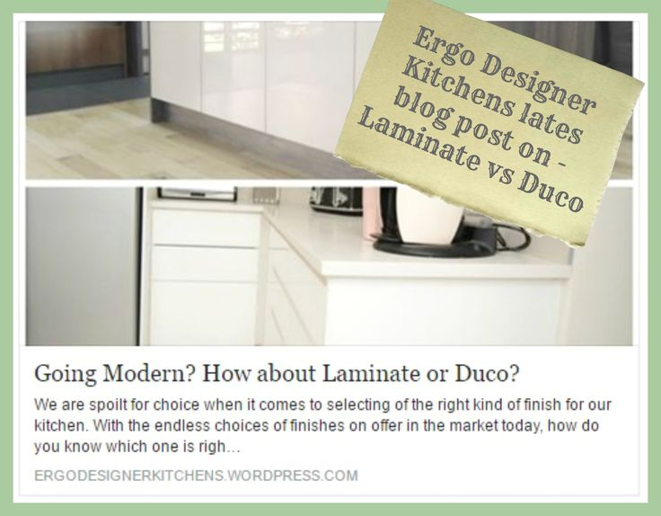 GOING MODERN? HOW ABOUT LAMINATE OR DUCO? ith the endless choices of finishes on offer in the market today, how do you know which one is right for you? There are numerous factors behind this decision – functionality, quality, appearance, the budget and value being the foremost considerations.