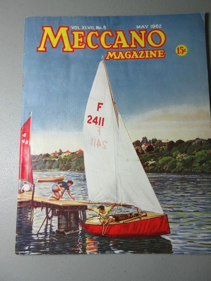 Meccano vtg magazine #5 May 1962 service crane n block setting model instruction #Meccano
