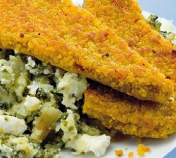 Boerenkool met geitenkaas en schnitzel - Recept - Jumbo Supermarkten