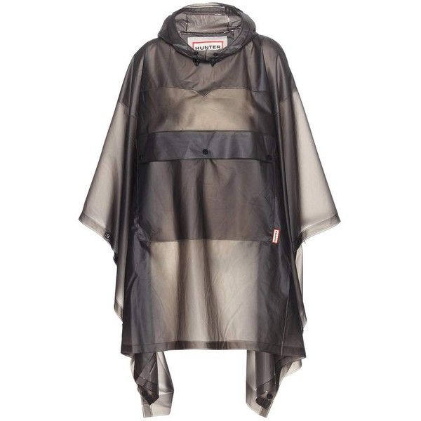 Hunter Original Clear Poncho ($210) ❤ liked on Polyvore featuring outerwear, grey, grey poncho and clear poncho