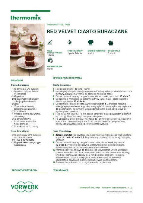 Red velvet ciasto buraczane