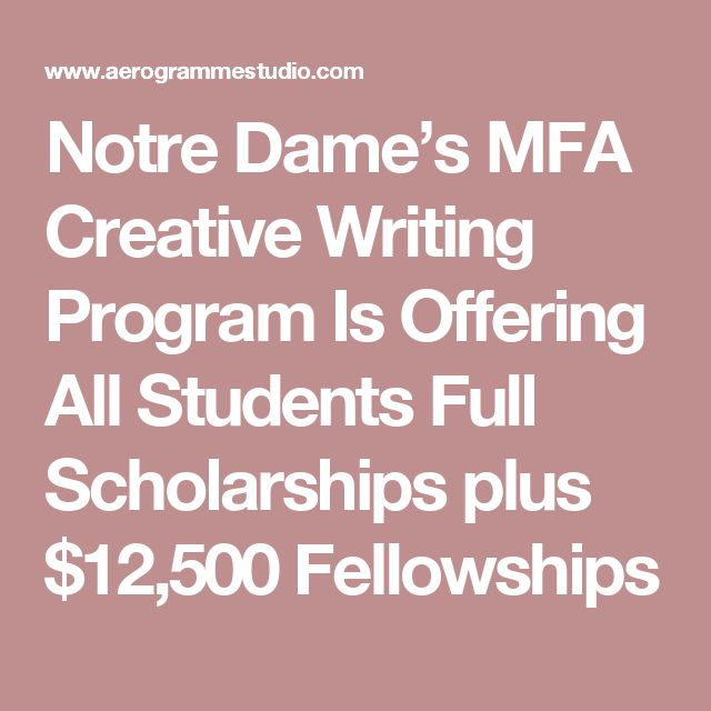 Phd scholarships creative writing