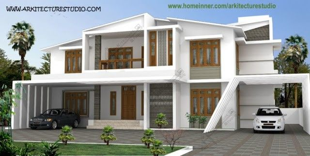 3500 Sq Ft Modern Contemporary Indian Home Design Indian Home