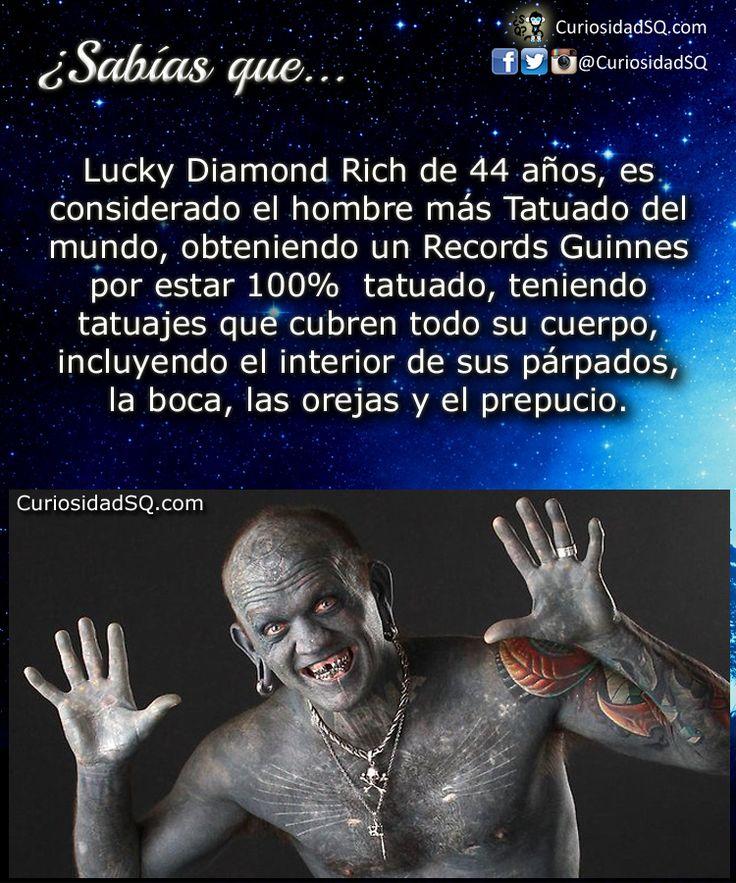 ¿Sabías que?: Lucky Diamond Rich el hombre más tatuado del mundo.