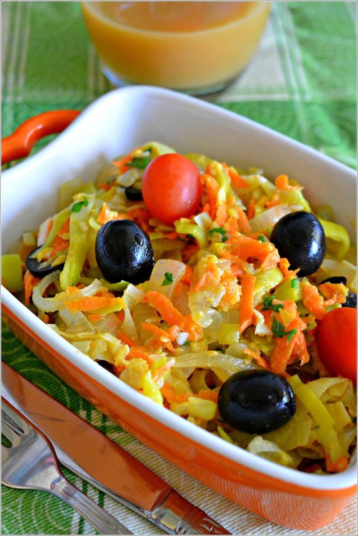 Sweet my Kitchen: Brás de alho-francês e cenoura