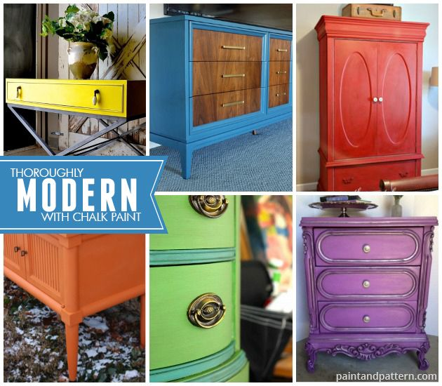 bright painted furniture. chalk paint decorative on modern style furniture projects so colorful via bright painted e