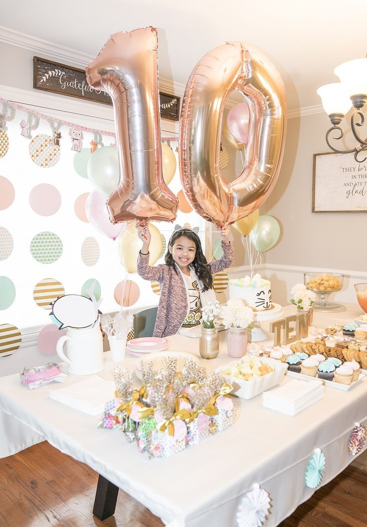 Girls 10th Birthday Party Ideas 10thbirthday Partyideas Partydecor Girl Birthday Decorations Girls Birthday Party Decorations 10th Birthday Parties