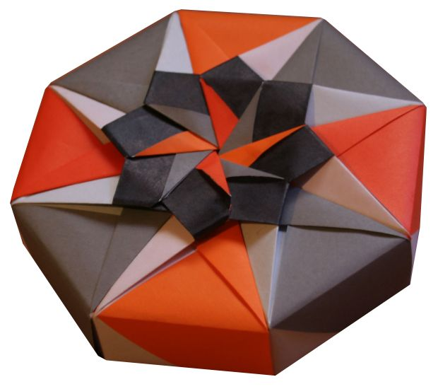ORIGAMI CONSTRUCTIONS: origami octagonal box + folding instructions