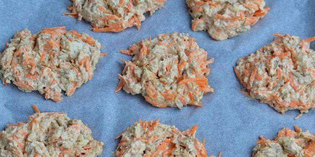 Lækre gulerodsbrud klar til at komme i ovnen