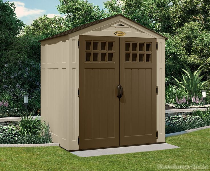 Suncast 6x5 Adlington Four Plastic Shed  http://www.greenhousestores.co.uk/Suncast-6x5-Adlington-Four-Plastic-Shed.htm