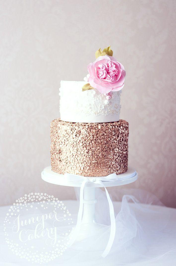 Large Glitter Effect For Wedding Cakes