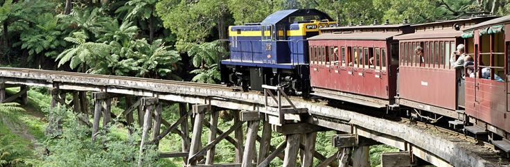 DH31 Negotiating a Trestle Bridge on Puffing Billy