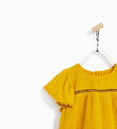 FRILLED OCHRE DRESS-NEW IN-BABY GIRL | 3 months - 4 years-KIDS | ZARA United States
