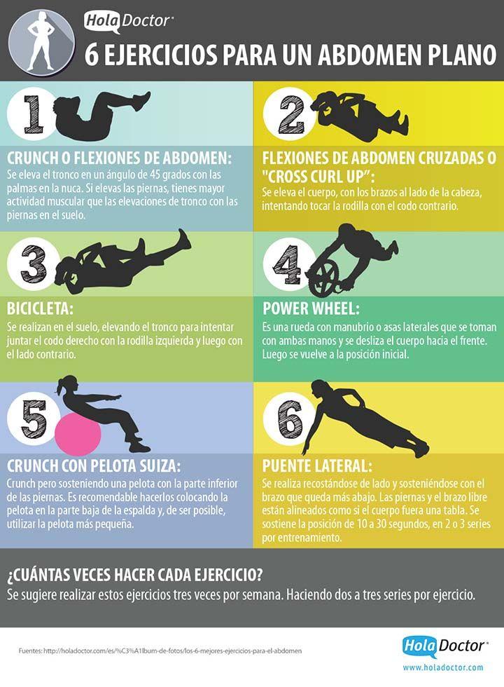 Best 25 ejercicios para abdomen plano ideas on pinterest for Abdominales