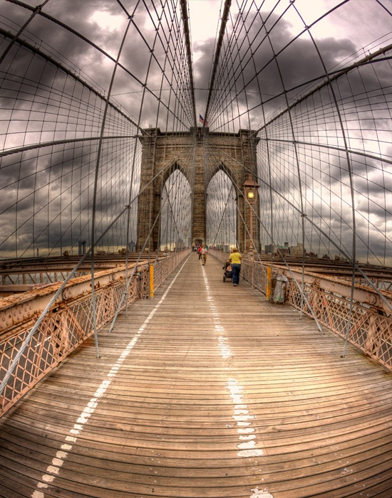 Brooklin bridge - always walked across on visits to NYC. Great place to eat near the bridge entrance