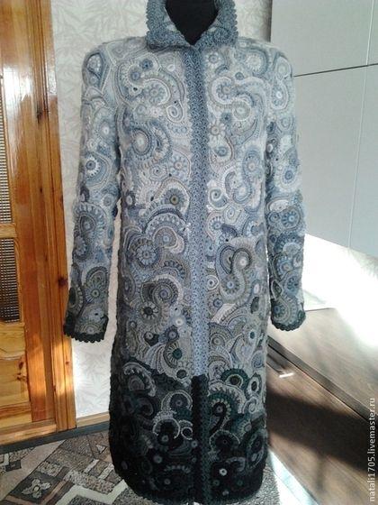 """Верхняя одежда ручной работы. Ярмарка Мастеров - ручная работа. Купить Пальто фриформ """"Гармония"""". Handmade. Разноцветный, пальто на подкладе"""