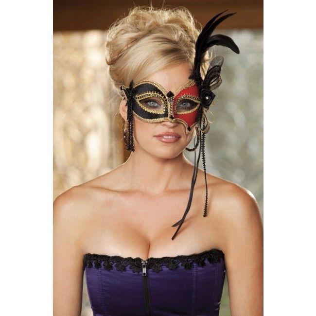 two tone black red velvet eye mask for halloween - Black Eye Mask Halloween