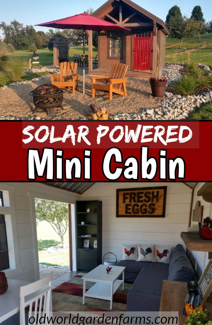 The Completed Off Grid Mini Cabin A Look Inside Our Tiny Shiplap Shanty Mini Cabins Backyard Cabin Shed Cabin