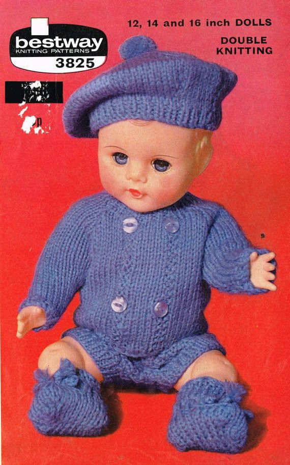 Free Knitting Patterns For Dolls Prams : 1000+ images about Vintage toy patterns on Pinterest ...