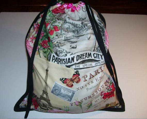 LOVELY CARRYING BAG  floral paris city pattern design   no.2