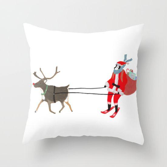 Santa Husky pillow by Miba