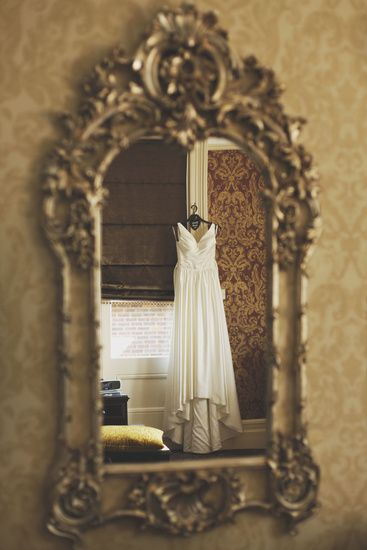 This is cool! Better than typical doorway or window. Would be good secondary photo of gown