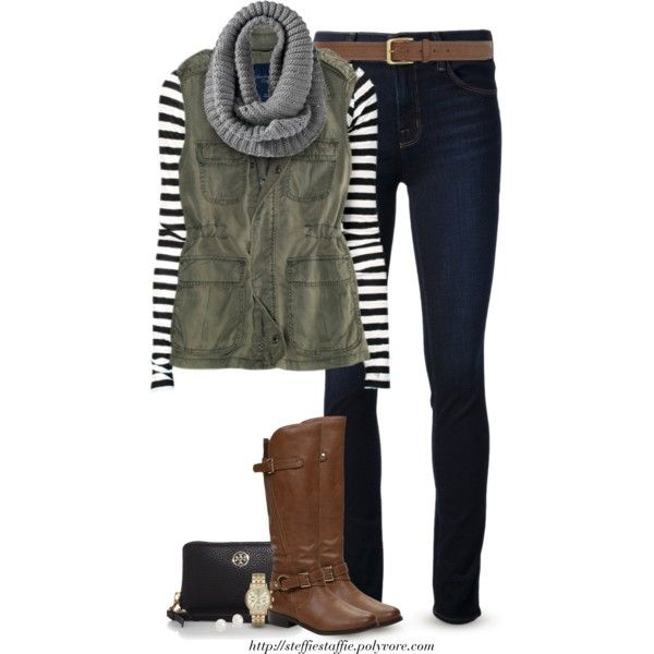 Stripes, Army green & Gray by steffiestaffie on Polyvore featuring Proenza Schouler, J Brand, Tory Burch, Michael Kors, Blue Nile, Dorothy Perkins and American Eagle Outfitters