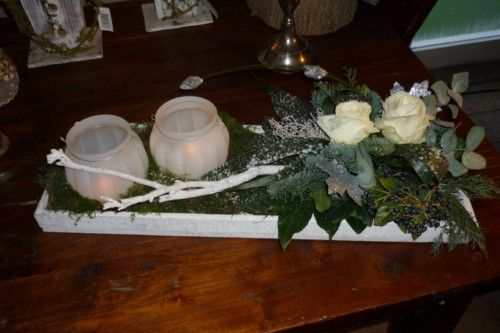 wooden tray ((kerst))