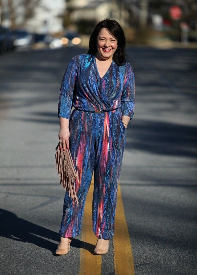 Wardrobe Oxygen: Thinking Spring with a blue printed Jumpsuit from Serena Williams for BCBGeneration suede fringe clutch both from @HSN #TheFashionEdit