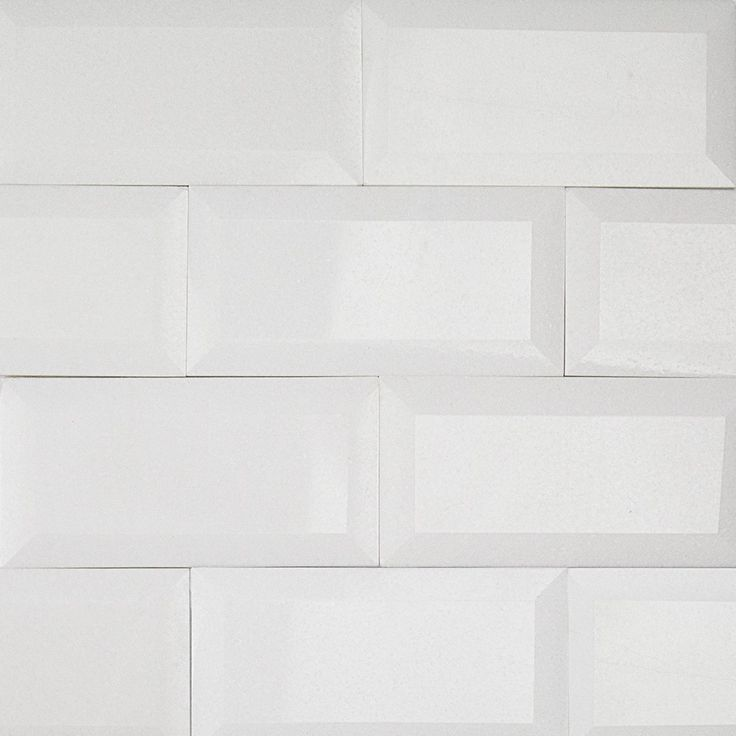 white thassos 3x6 beveled marble tile psf less 10 products i heart tile surfaces. Black Bedroom Furniture Sets. Home Design Ideas