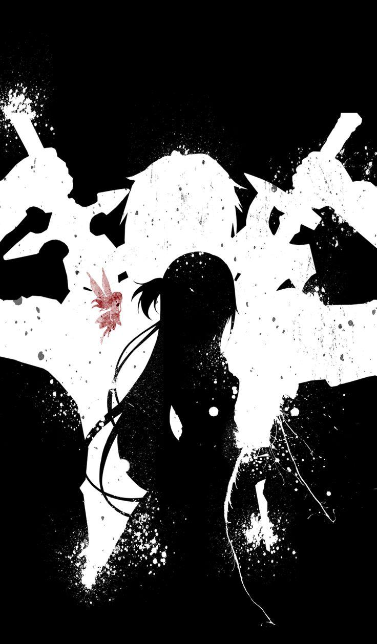 Kirito, Asuna and Yui - Sword Art Online by MalowsDrawing