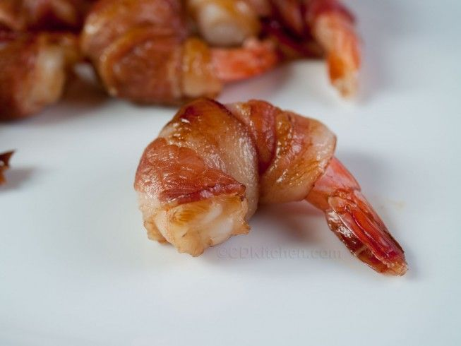 Bacon Wrapped Shrimp - CDKitchen.com -  A simple appetizer made with bacon, shrimp, and teriyaki sauce.