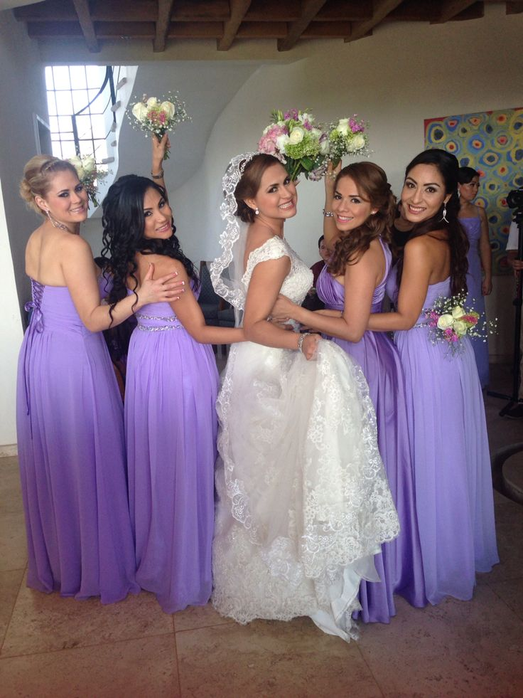 369 best Damas de honor en bodas images on Pinterest | Bridesmaids ...