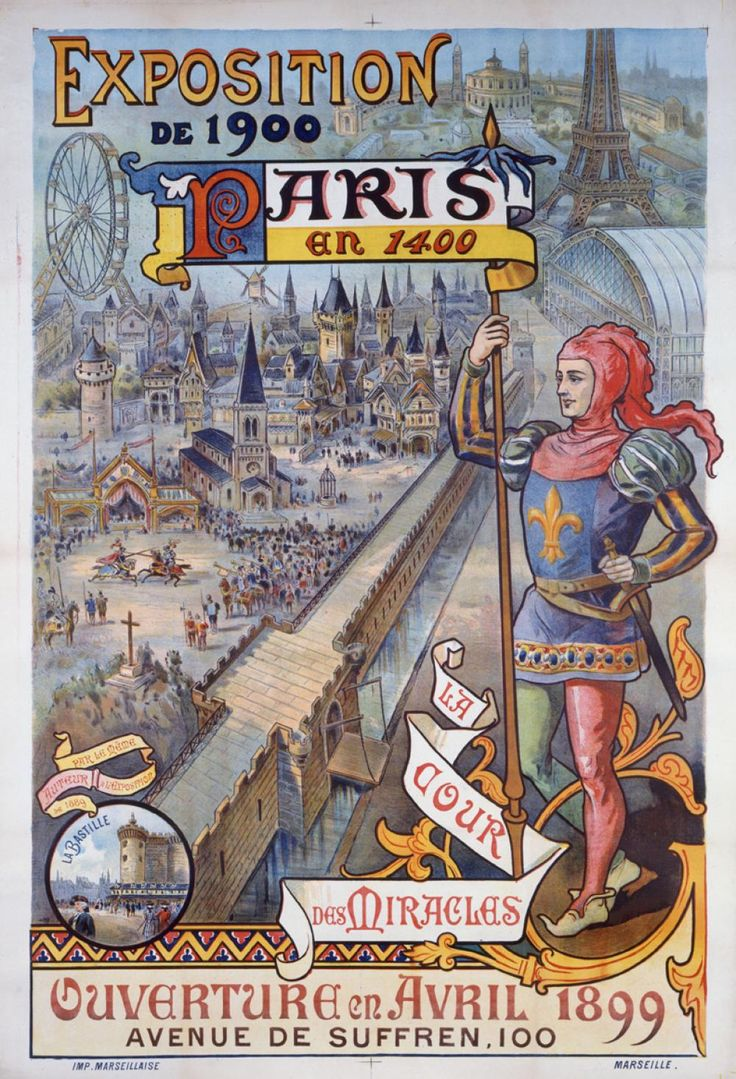 Affiche de l'Exposition universelle de 1900. Anonyme . Copyright  Musée Carnavalet / Roger-Viollet