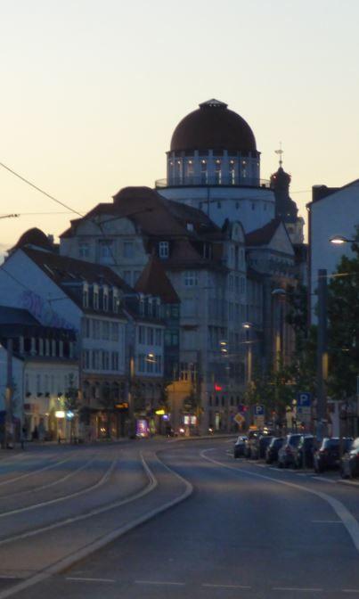 Abendstimmung - Karl-Liebknecht-Strasse, Leipzig